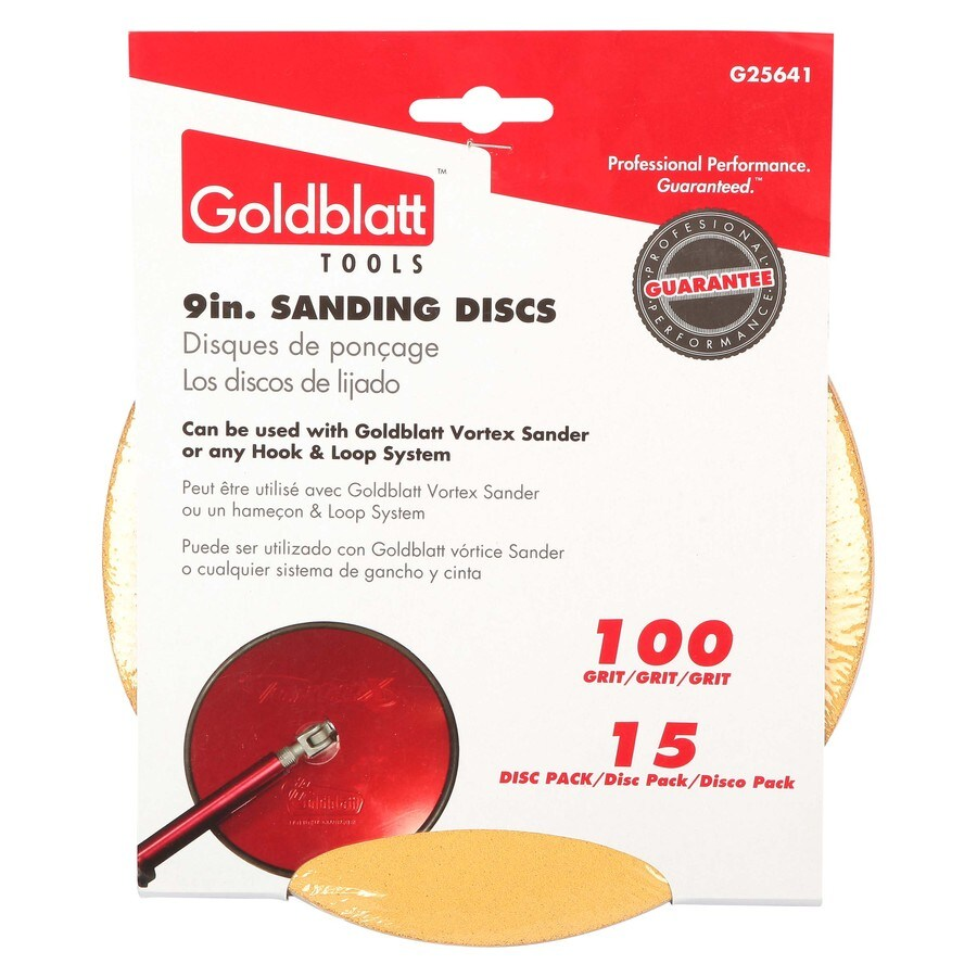 GOLDBLATT 15-Pack 9-in W x 9-in L 100-Grit Commercial Drywall Sandpaper