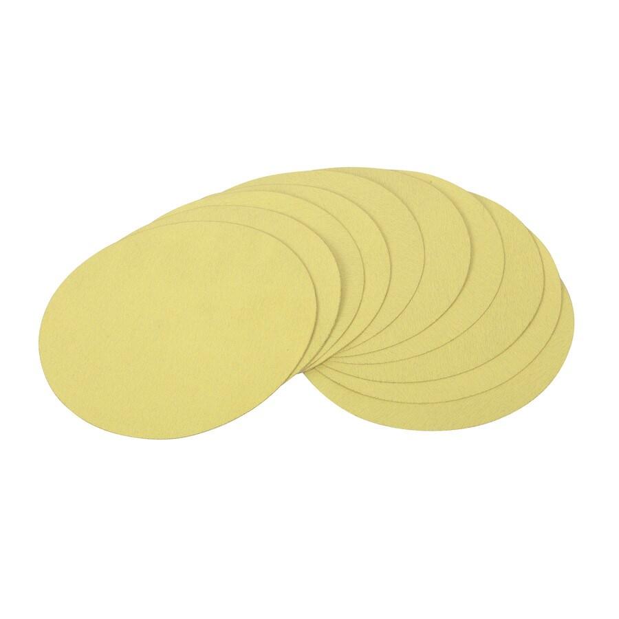 GOLDBLATT 10-Pack 9-in W x 9-in L 80-Grit Commercial Round Hook and Loop Sandpaper