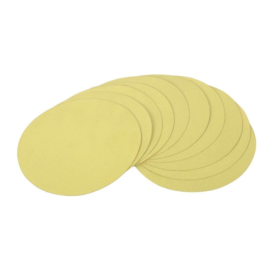GOLDBLATT 10-Pack 9-in W x 9-in L 100-Grit Commercial Round Hook and Loop Sandpaper