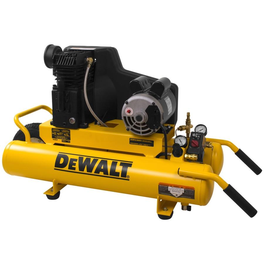 DEWALT 1.9-HP 8-Gallon 155-PSI 120-Volt Twin Stack Portable Electric Air Compressor