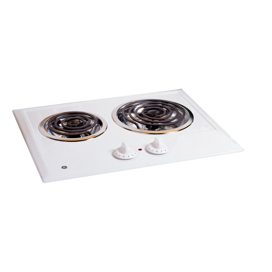 GE Electric Cooktop (White) (Common: 21-in; Actual 21.25-in)