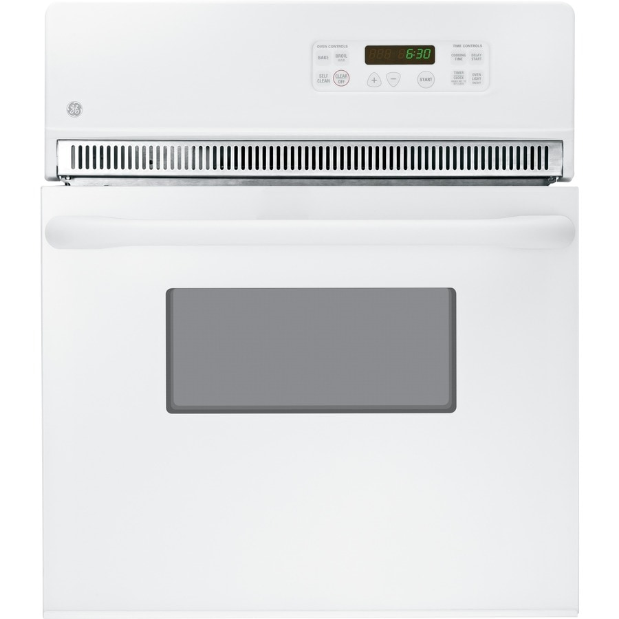 GE Self-Cleaning Single Electric Wall Oven (White) (Common: 24-in; Actual 23.75-in)