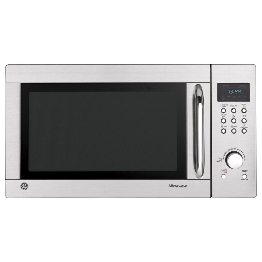 GE 1.3-cu ft 1000-Watt Countertop Microwave (Stainless Steel)