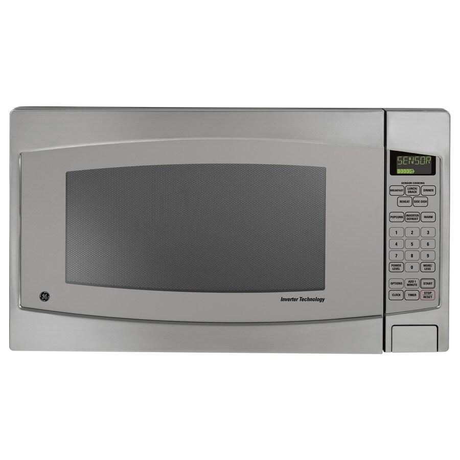 GE Profile Series 2.2-cu ft 1,200-Watt Countertop Microwave (Stainless Steel)
