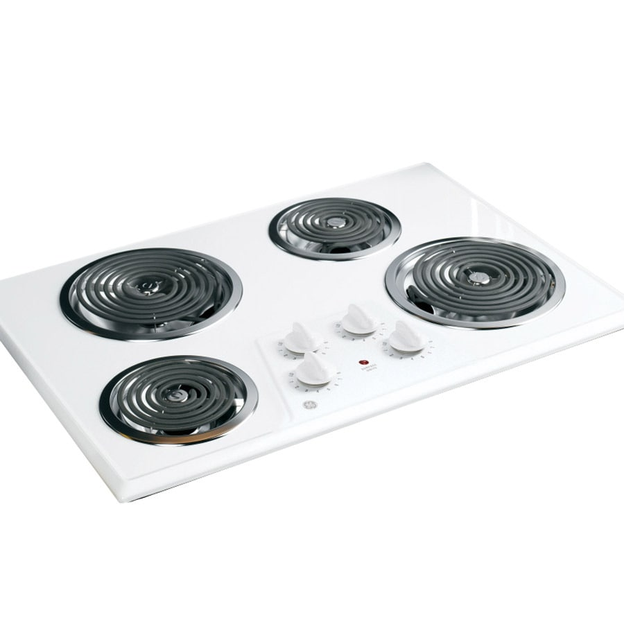 Shop Ge Electric Cooktop White Common 30 In Actual 30