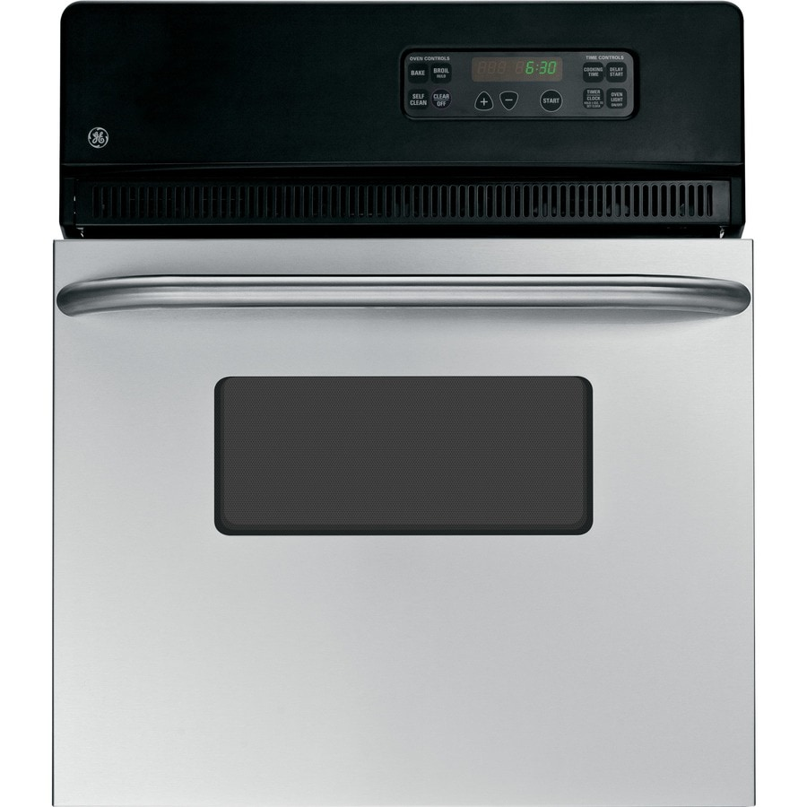 GE Self-Cleaning Single Electric Wall Oven (Stainless) (Common: 24-in; Actual 23.75-in)