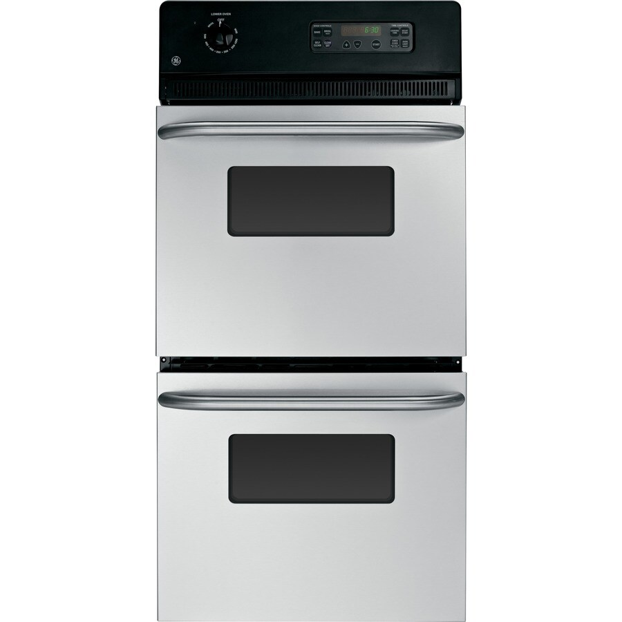 GE Self-Cleaning Double Electric Wall Oven (Stainless Steel) (Common: 24-in; Actual: 23.75-in)
