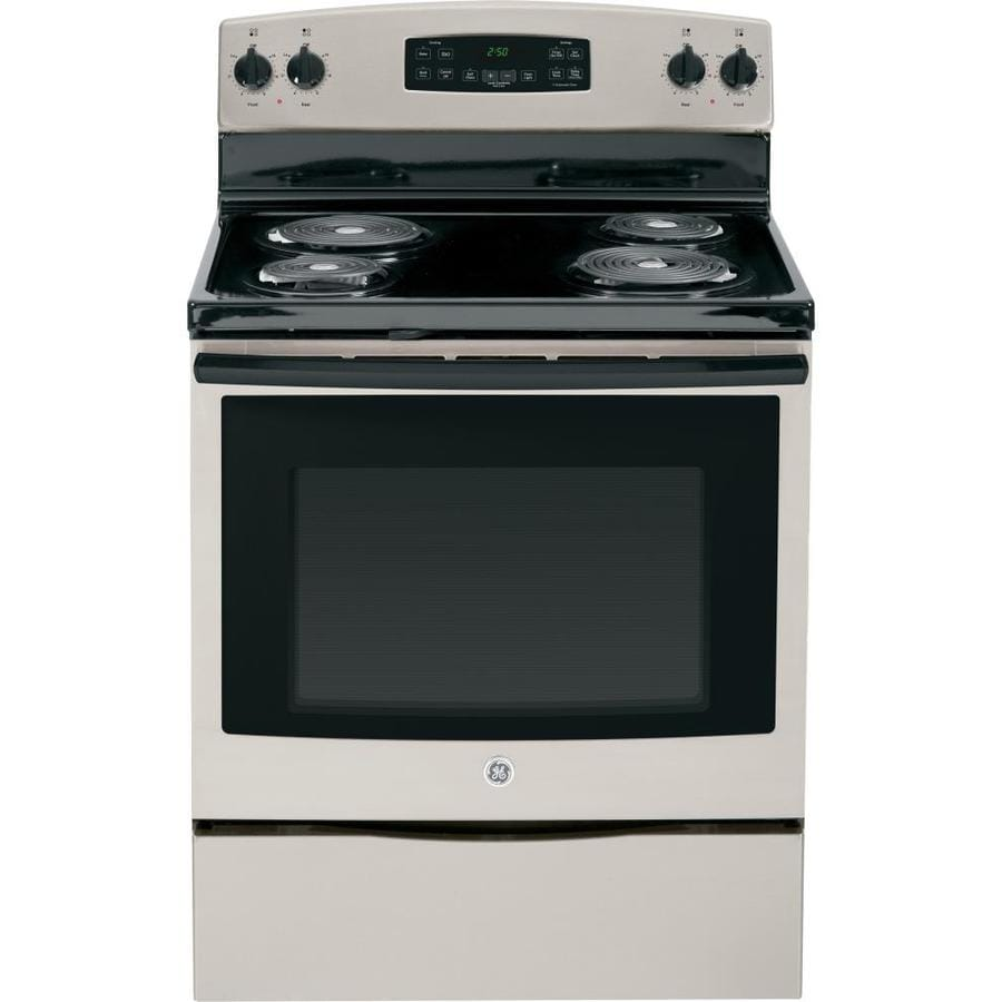 Shop Ge Freestanding 5 3 Cu Ft Self Cleaning Electric