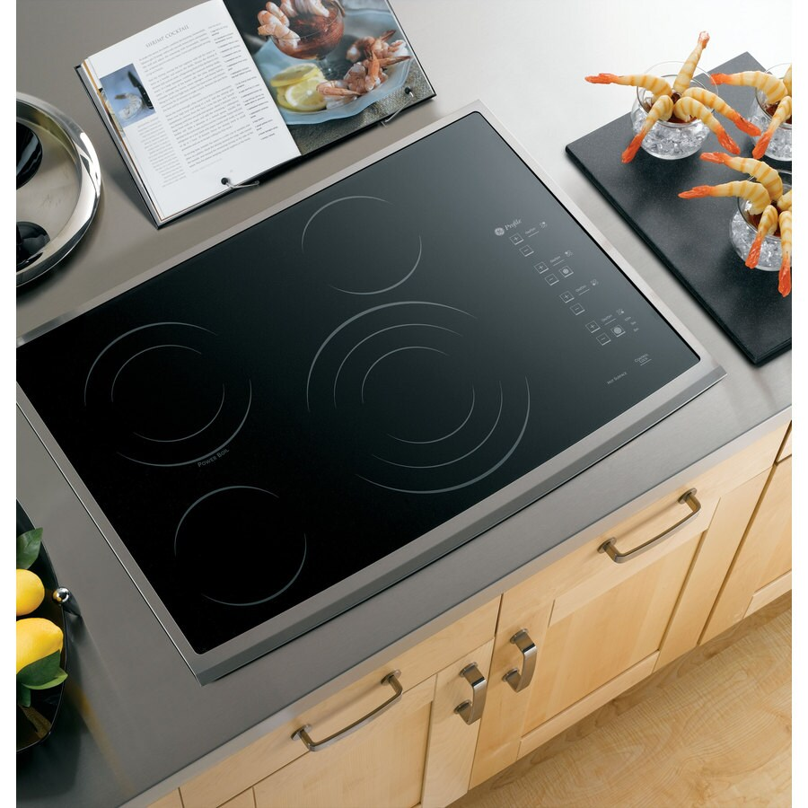 GE Profile Smooth Surface Electric Cooktop (Stainless Steel) (Common: 30-in; Actual 29.875-in)