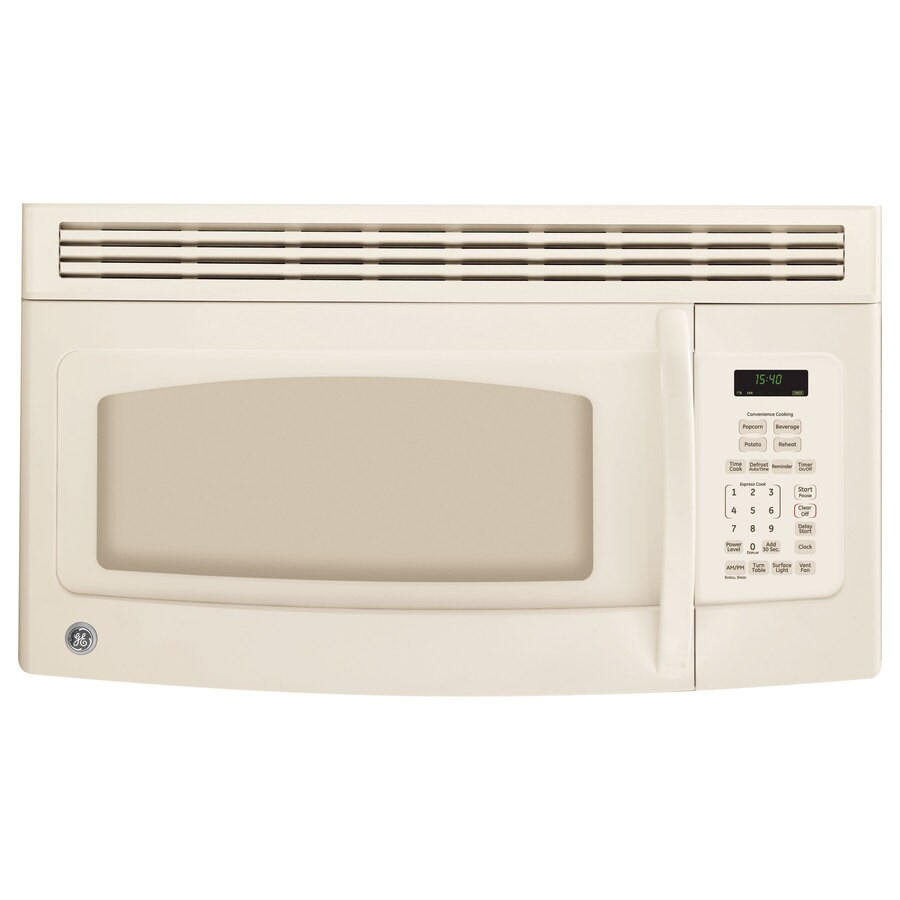 Shop GE 1.5-cu Ft Over-the-Range Microwave (Bisque