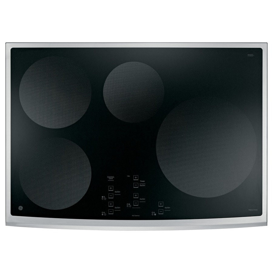 GE Profile Smooth Surface Induction Electric Cooktop (Stainless Steel) (Common: 30-in; Actual: 29.75-in)