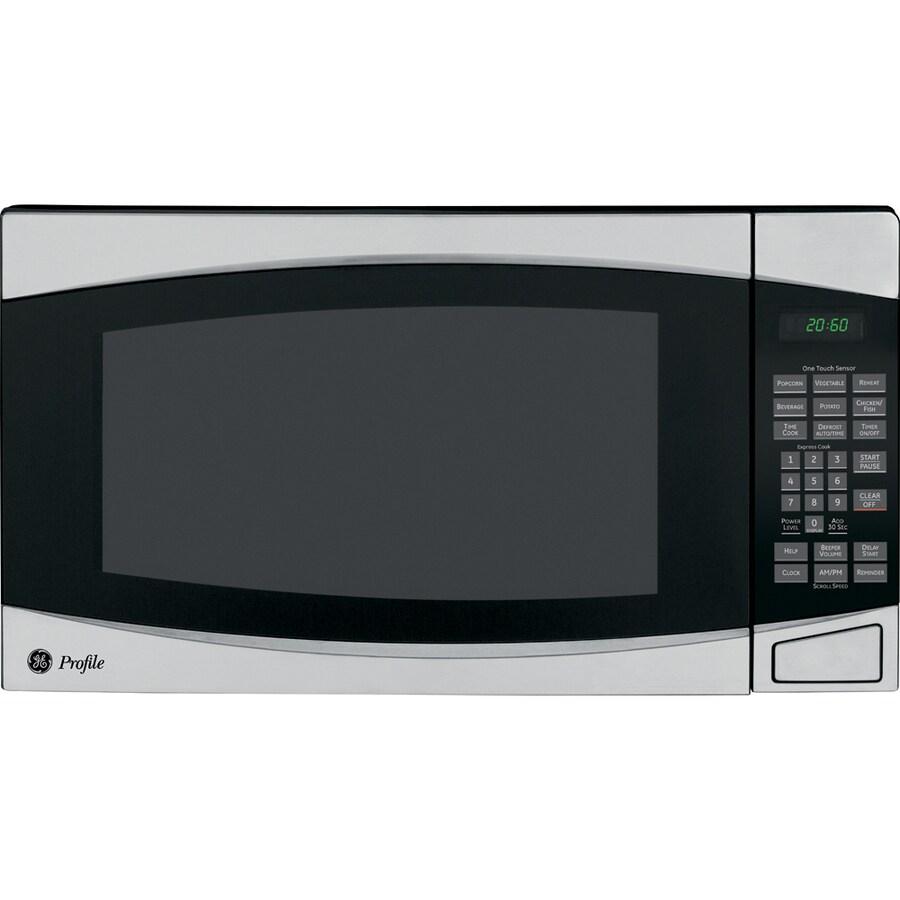 GE Profile 2-cu ft 1,200-Watt Countertop Microwave (Stainless)