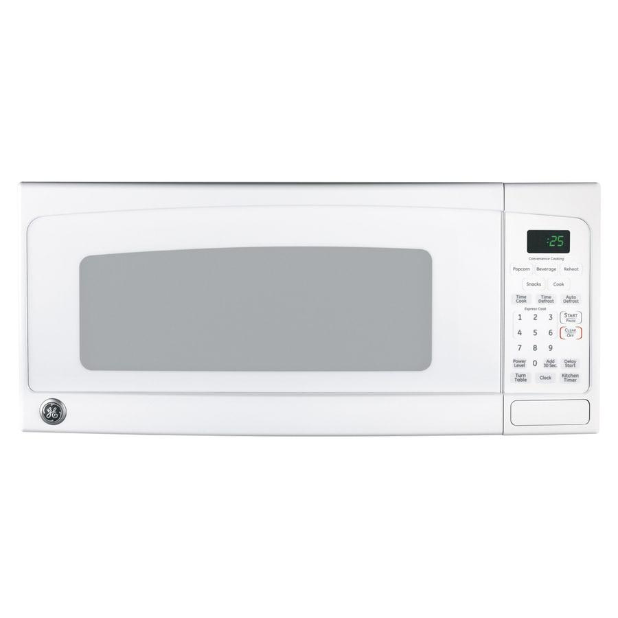 GE 1-cu ft 800-Watt Countertop Microwave (White)