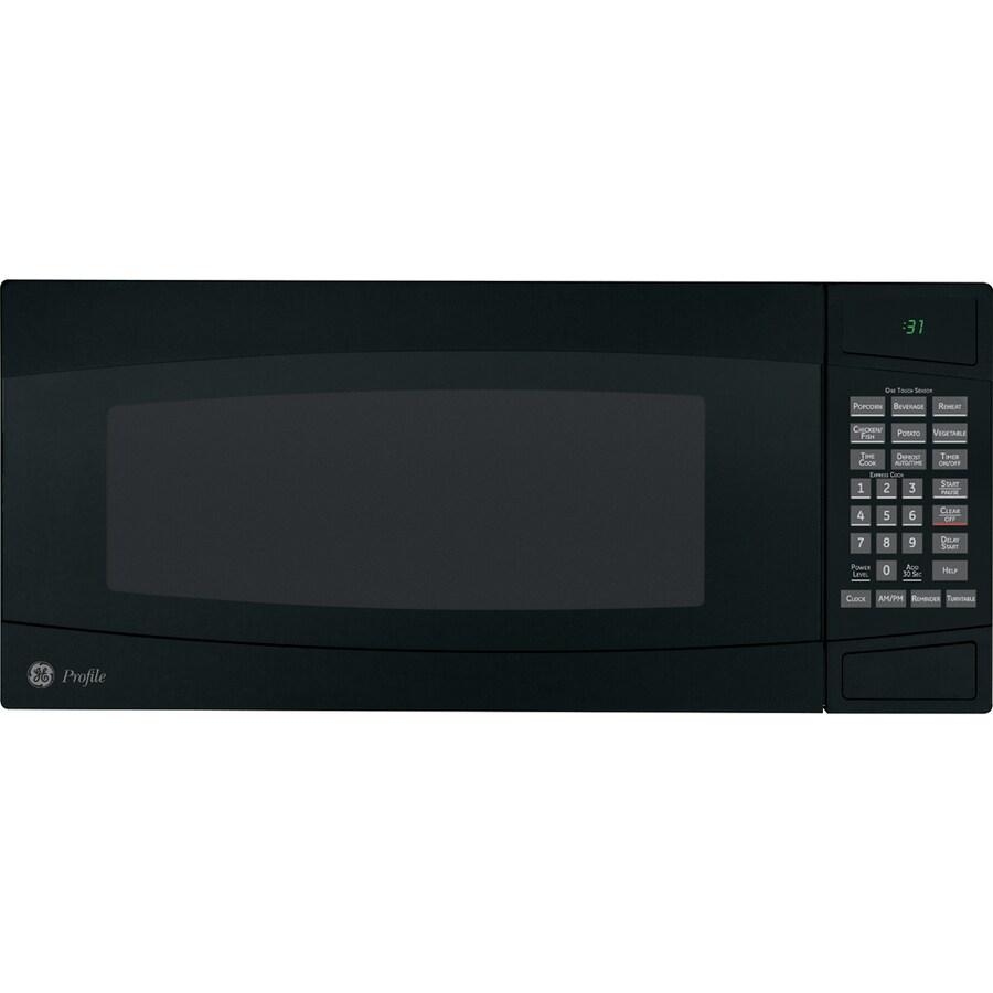 GE Profile 1-cu ft 800-Watt Countertop Microwave (Black)