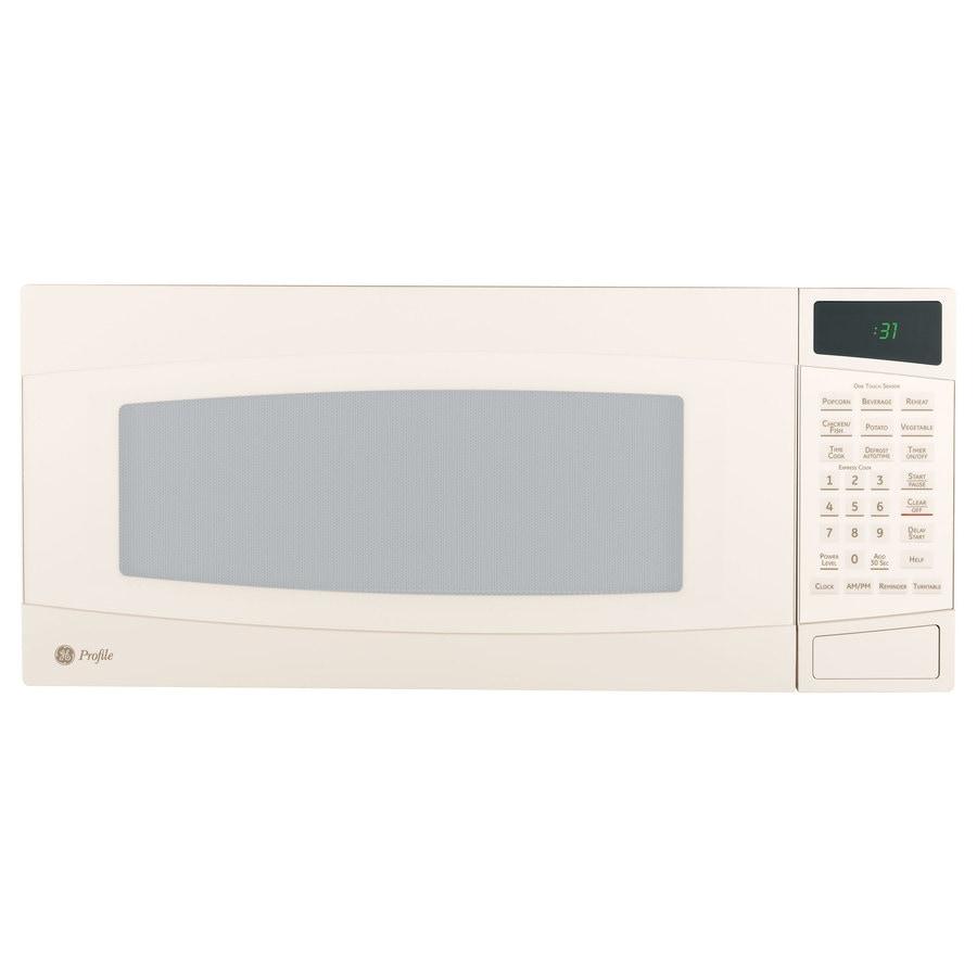 GE Profile 1-cu ft 800-Watt Countertop Microwave (Bisque)