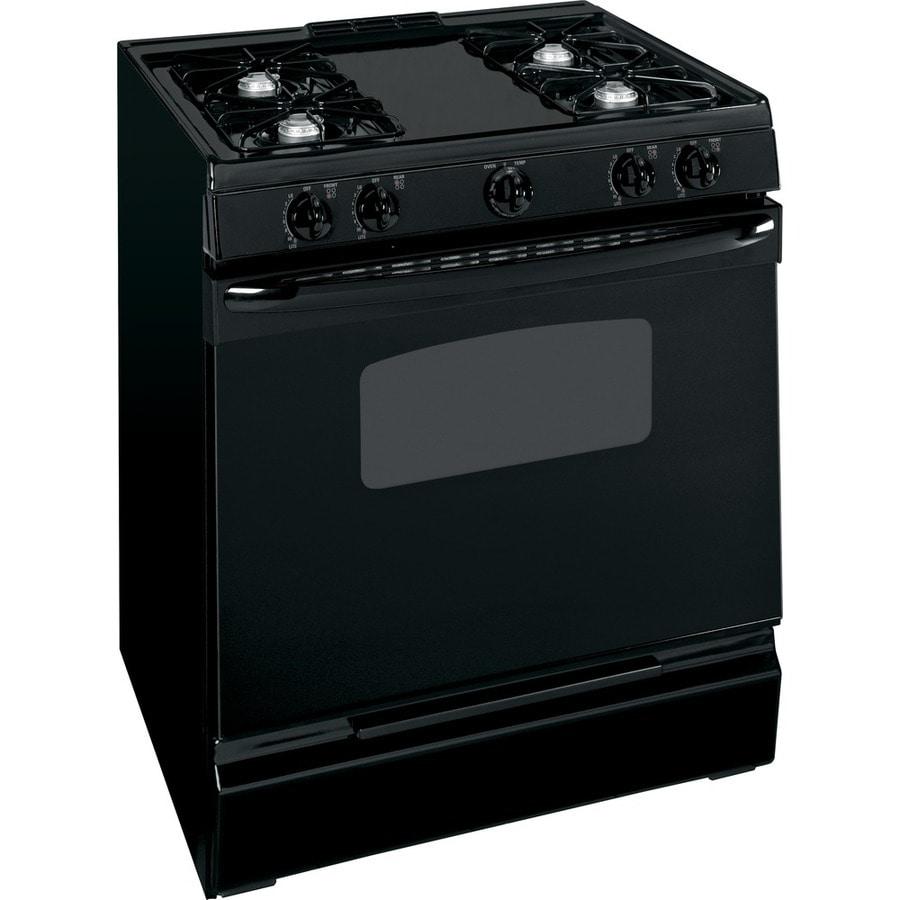 shop ge 30 inch slide in gas range color black at. Black Bedroom Furniture Sets. Home Design Ideas