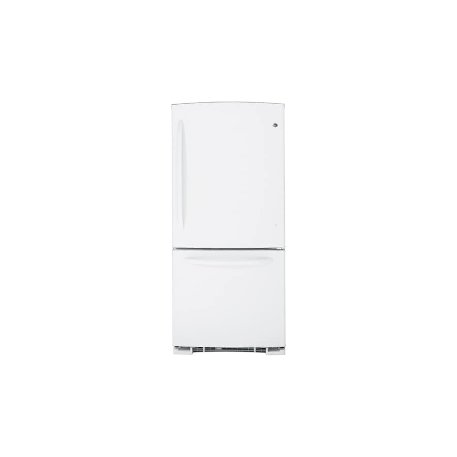 GE 20.2 cu ft Bottom Freezer Refrigerator (White) ENERGY STAR