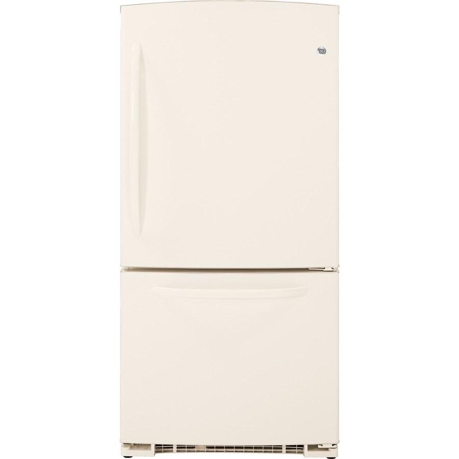 GE 20.3 cu ft Bottom Freezer Refrigerator (Bisque) ENERGY STAR