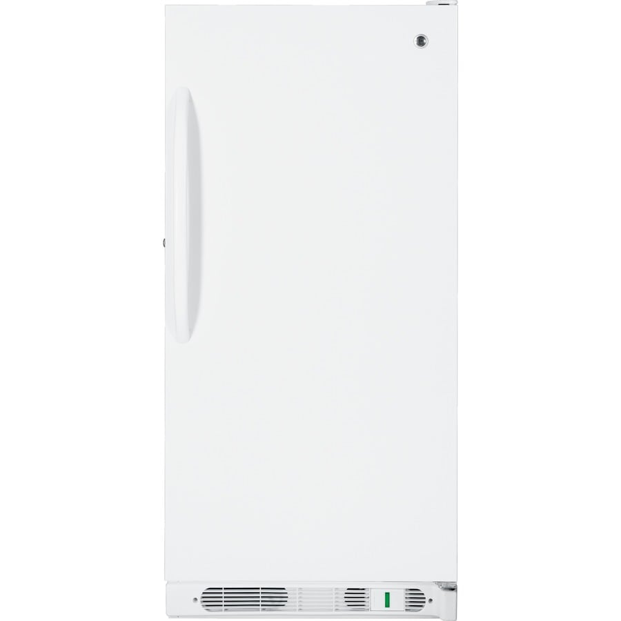 GE 14.1-cu ft Upright Freezer (White)