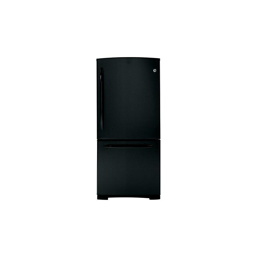 GE 20.2 cu ft Bottom Freezer Refrigerator (Black) ENERGY STAR