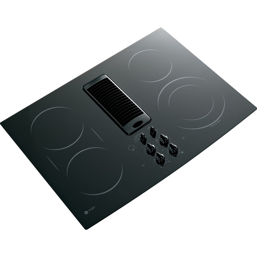 GE Profile 5-Element Smooth Surface Downdraft Electric Cooktop (Black) (Common: 30-in; Actual 29.875-in)