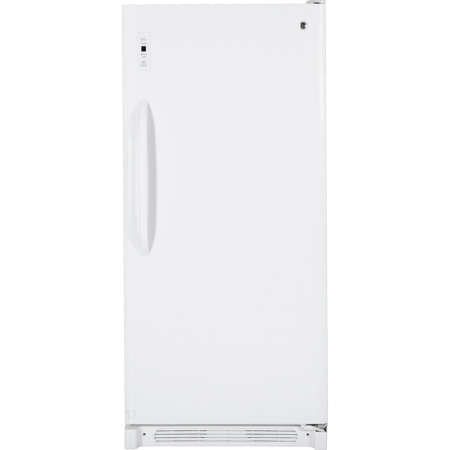 GE 20.5-cu ft Upright Freezer (White)
