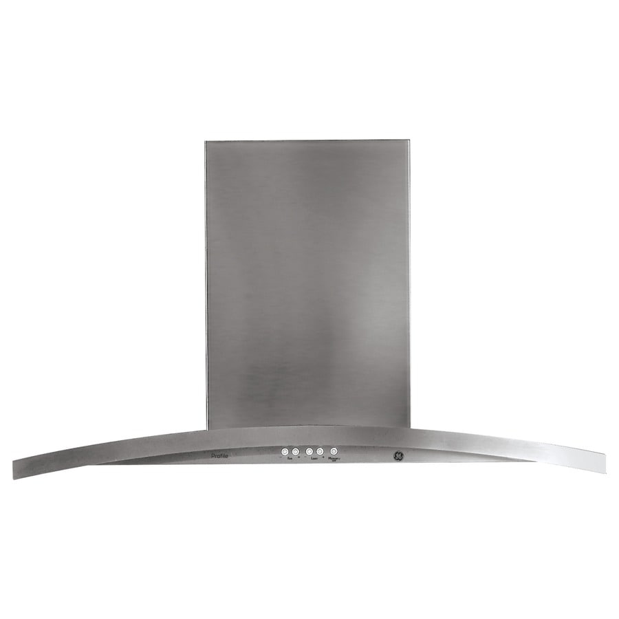 Halloween bathroom decor - Ge Profile Ducted Island Range Hood Stainless Common 36 In Actual