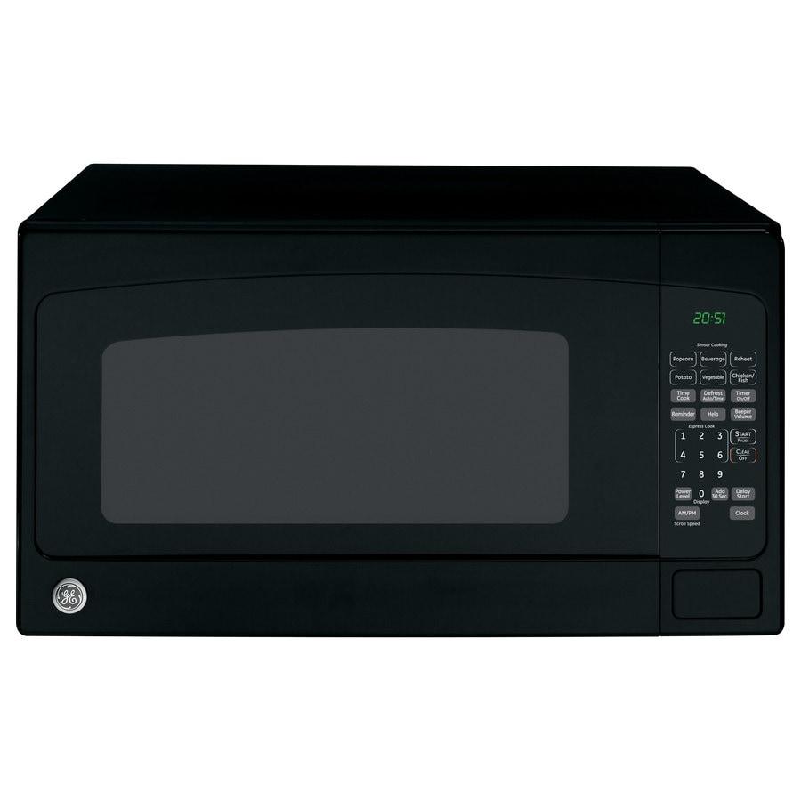 GE 2-cu ft 1,200-Watt Countertop Microwave (Black)