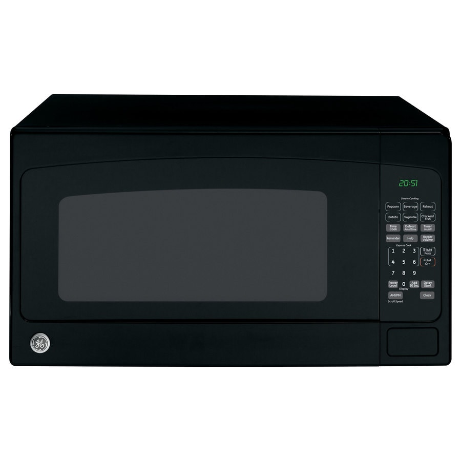 Shop Ge 2 Cu Ft 1 200 Watt Countertop Microwave Black At