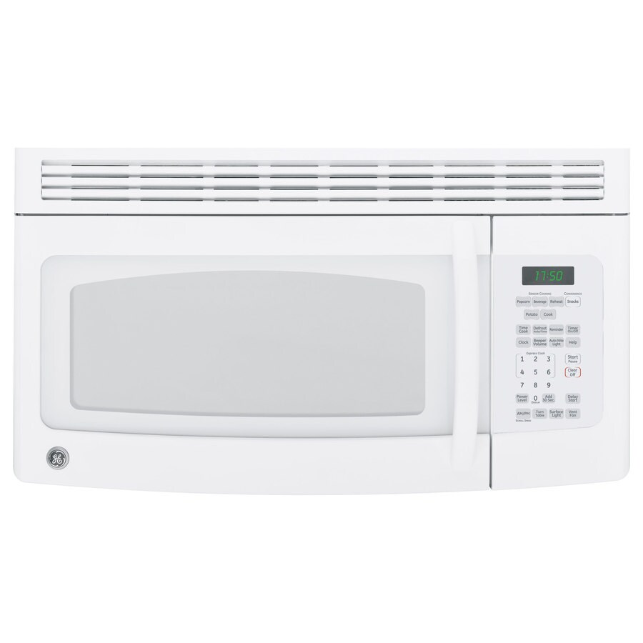 GE 1.7-cu ft Over-The-Range Microwave with Sensor Cooking Controls (White) (Common: 30-in; Actual: 29.87-in)