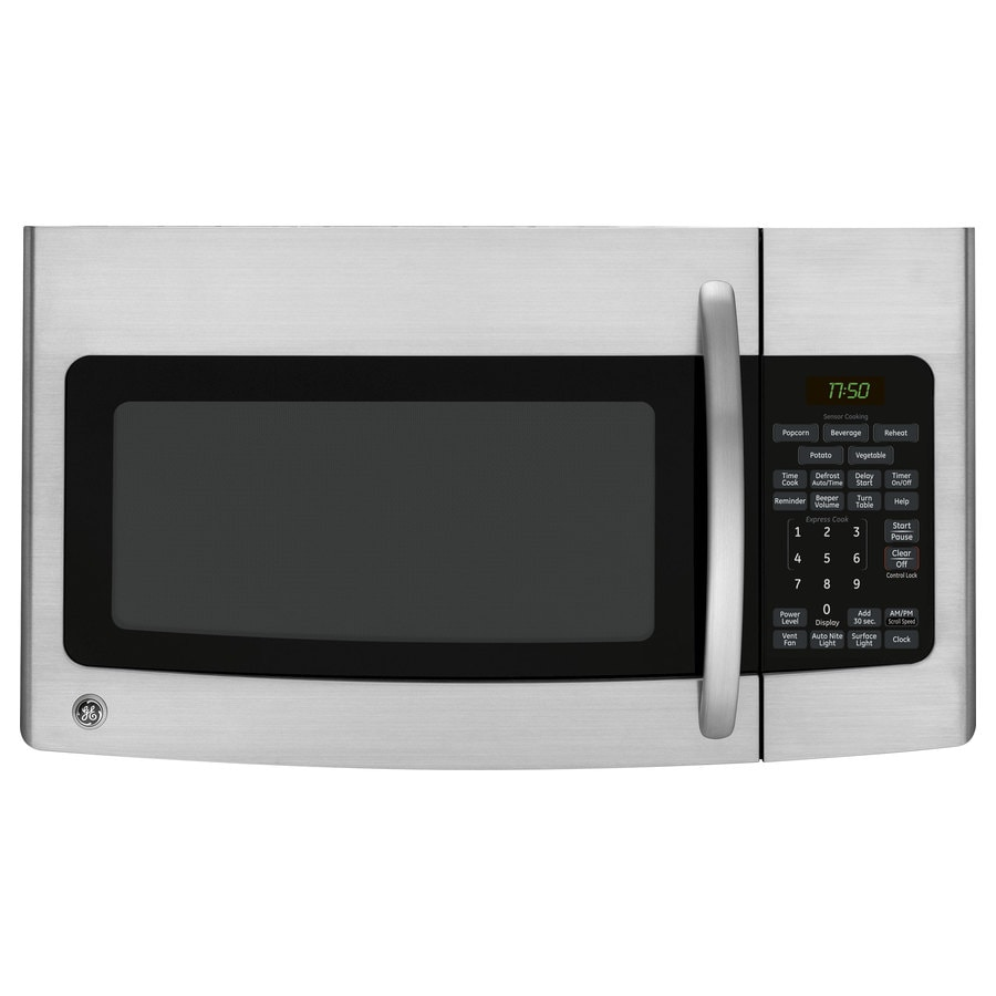 GE 1.7-cu ft Over-The-Range Microwave with Sensor Cooking Controls (Stainless Steel) (Common: 30-in; Actual: 29.87-in)