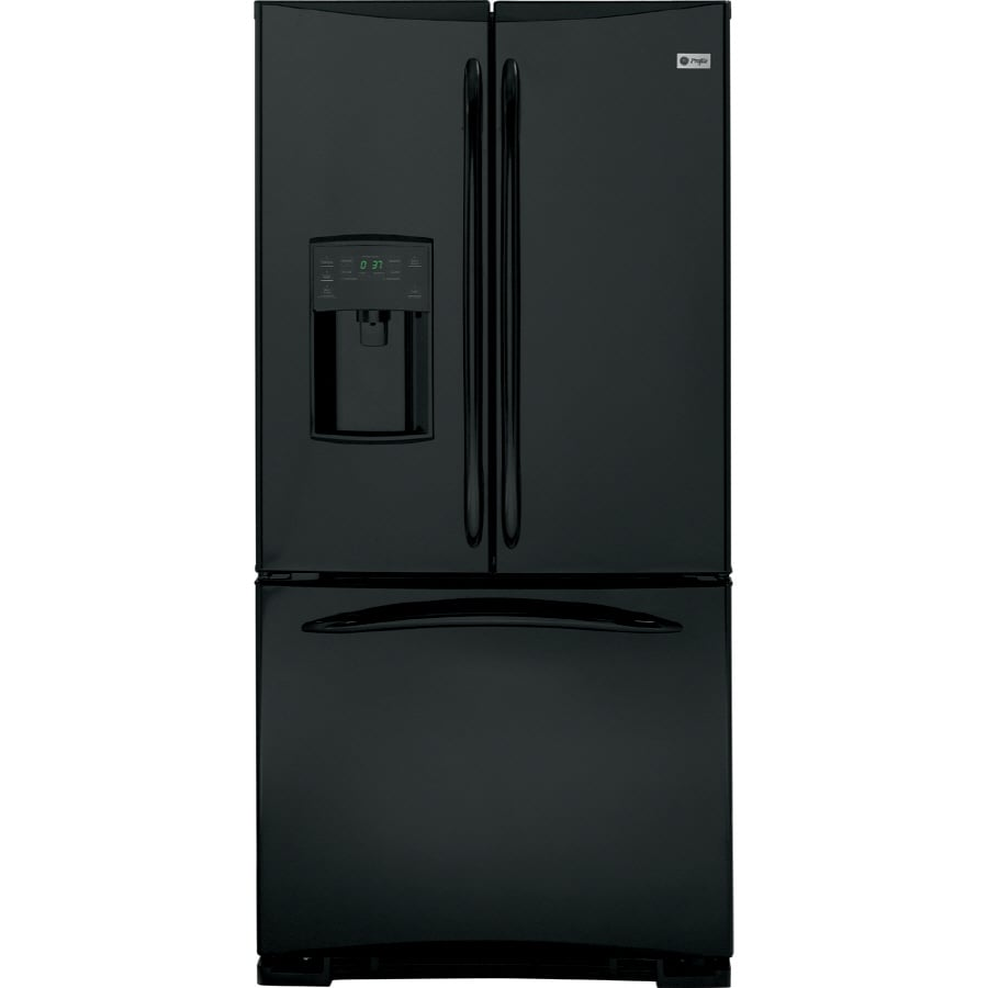 GE Profile 22.2 cu ft French Door Refrigerator (High-Gloss Black) ENERGY STAR