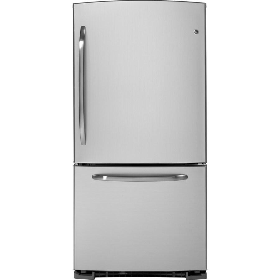 GE 22.7 cu ft Bottom Freezer Refrigerator (CleanSteel) ENERGY STAR