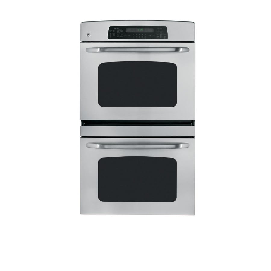 GE 30-in Self-Cleaning Convection Double Electric Wall Oven (Stainless Steel)