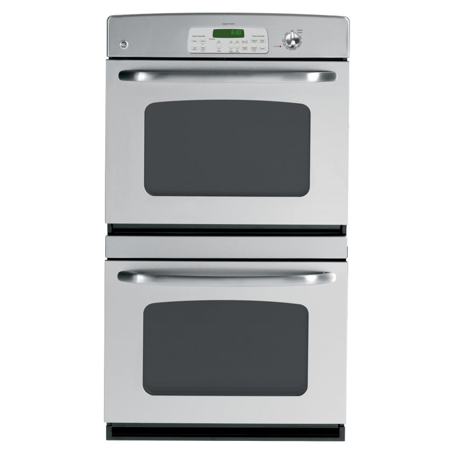GE 30-in Self-Cleaning Double Electric Wall Oven (Stainless Steel)