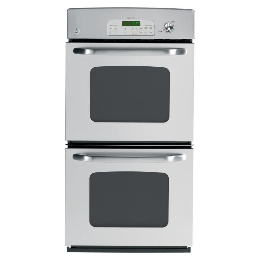 GE 27-in Self-Cleaning Double Electric Wall Oven (Stainless Steel)