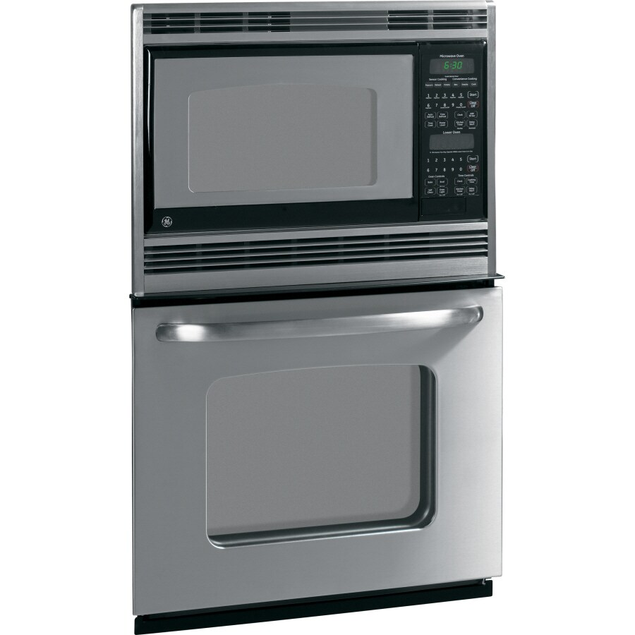 GE Self-Cleaning Microwave Wall Oven Combo (Stainless Steel) (Common: 27-in; Actual 26.625-in)