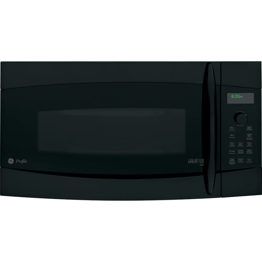 GE Profile 1.7 cu ft Over-the-Range Convection Oven Microwave (Black)