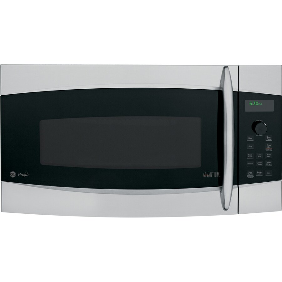 GE Profile 30-in 1.7-cu ft Over-the-Range Convection Microwave with Sensor Cooking Controls (Stainless Steel)