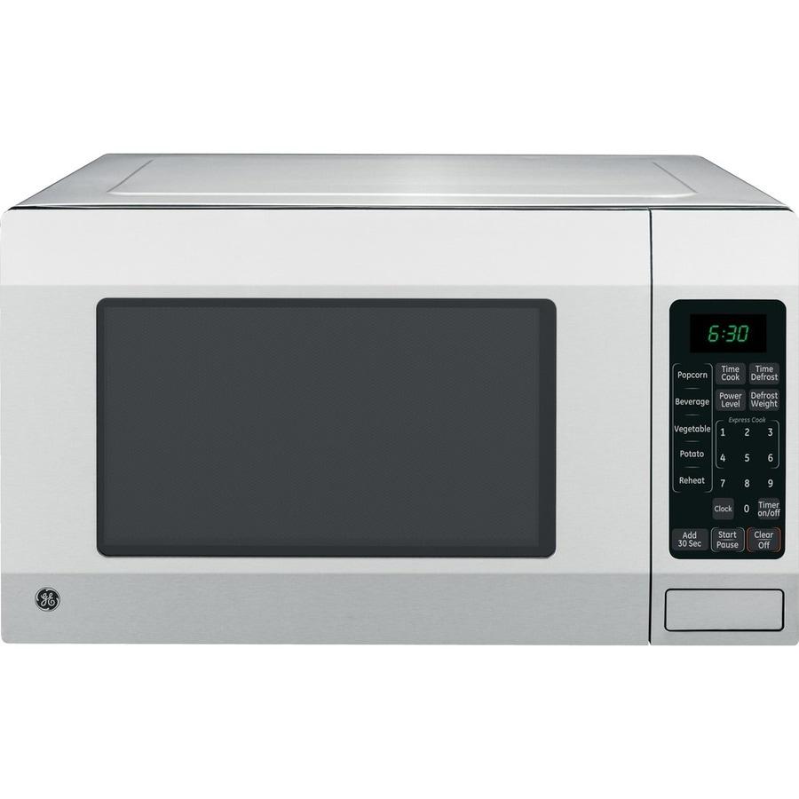 Good Countertop Microwave : Shop GE 1.6-cu ft 1,150-Watt Countertop Microwave (Stainless Steel) at ...