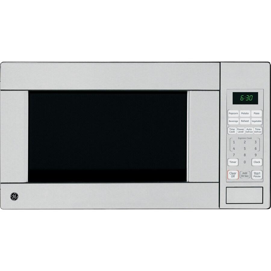 GE 1.1-cu ft 1,100-Watt Countertop Microwave (Stainless)