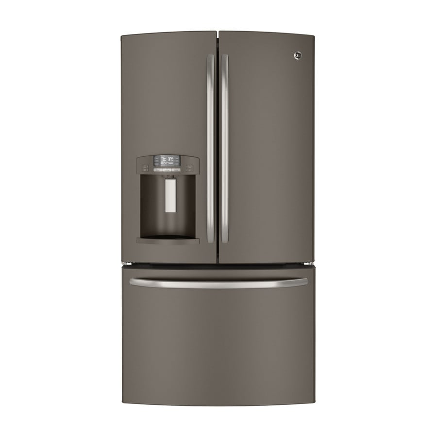GE 28.6-cu ft French Door Refrigerator with Dual Ice Maker (Slate) ENERGY STAR