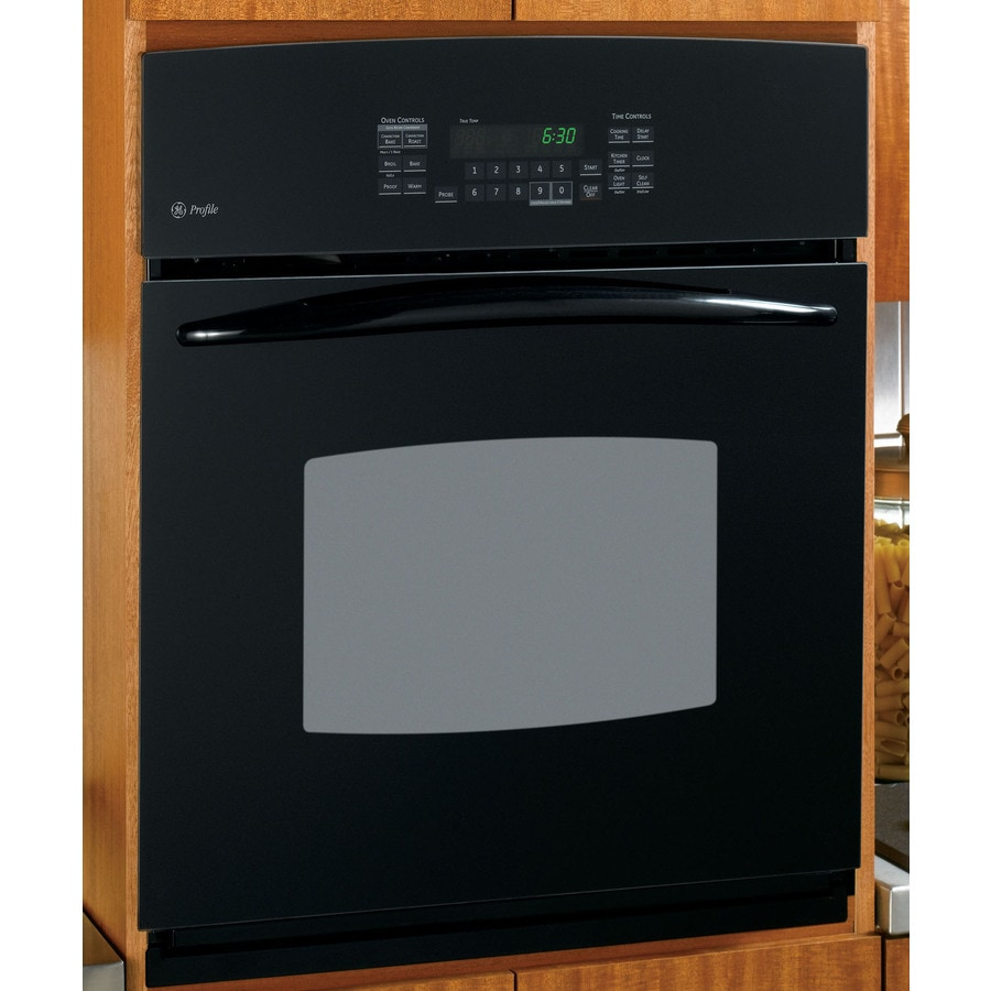 GE Profile 27-in Self-Cleaning Convection Single Electric Wall Oven (Black)