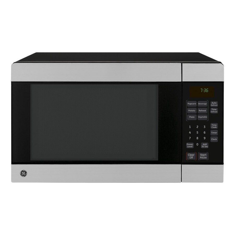 GE 0.7-cu ft 700-Watt Countertop Microwave (Stainless Steel)