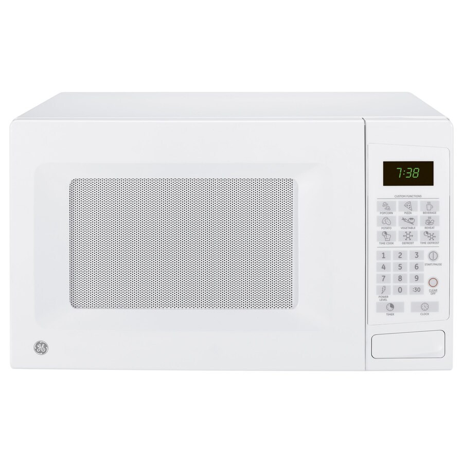 GE 0.7-cu ft 700-Watt Countertop Microwave (White)