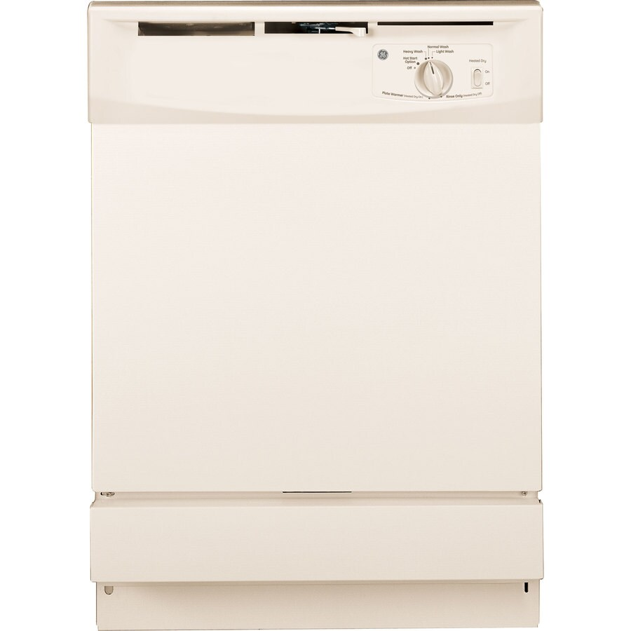 GE 64-Decibel Built-In Dishwasher with Hard Food Disposer (Bisque) (Common: 24-in; Actual: 24-in)