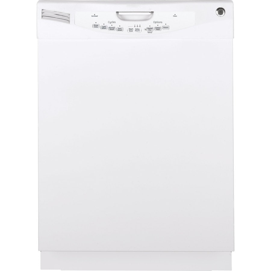 GE 57-Decibel Built-In Dishwasher (White) (Common: 24-in; Actual: 24-in)