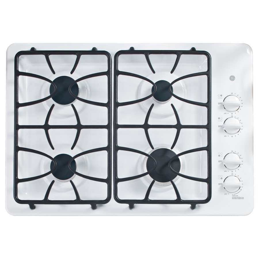 GE 4-Burner Gas Cooktop (White) (Common: 30-in; Actual: 30-in)