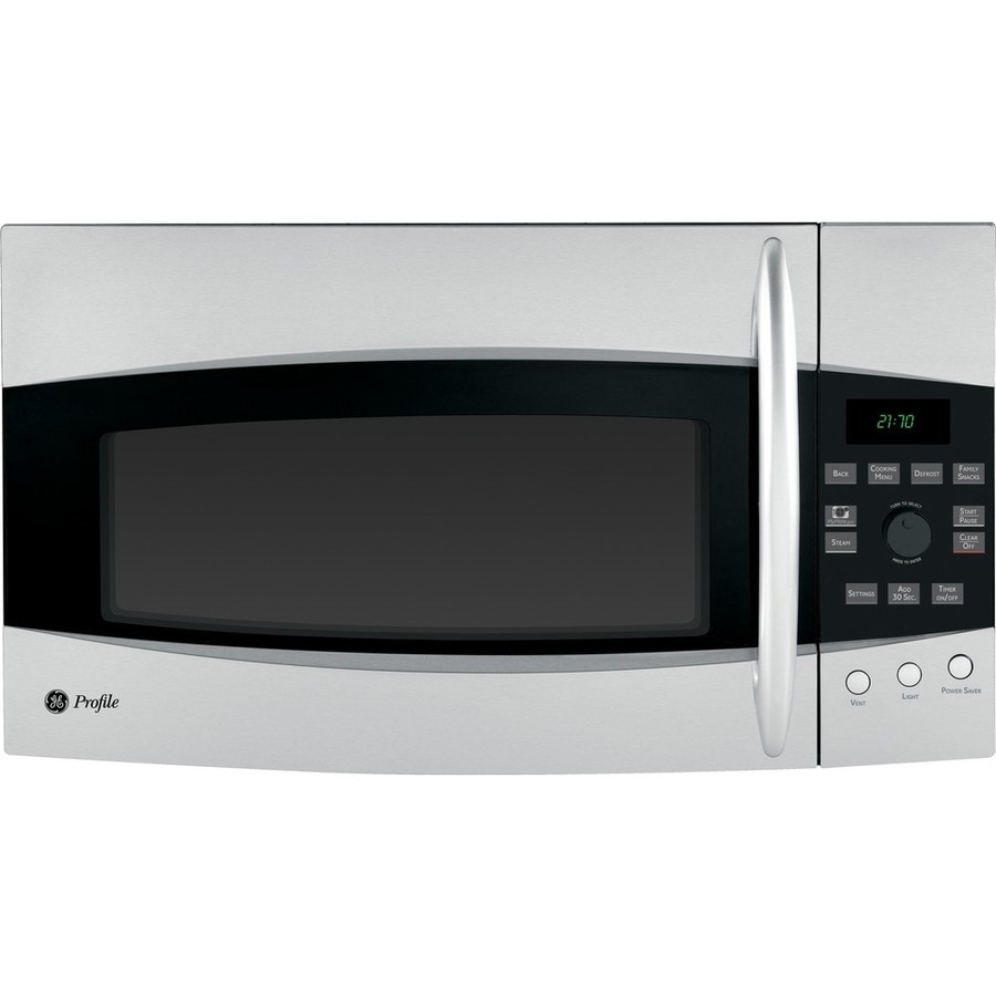 GE Profile 2.1-cu ft Over-The-Range Microwave with Sensor Cooking Controls (Stainless Steel) (Common: 30-in; Actual: 29.87-in)