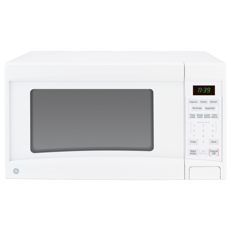 GE 1.1-cu ft 1100-Watt Countertop Microwave (White)